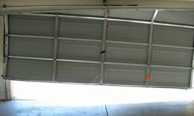 off track garage door